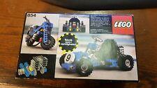 LEGO VINTAGE 1978 USED GOKART 854 IN BOX MISSING 2 BLUE PLATE LOOK PIC