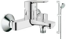 GROHE Bauedge Bath Shower Mixer Tap Wall Mounted - Cosmo Slide Rail Kit 2 Mode