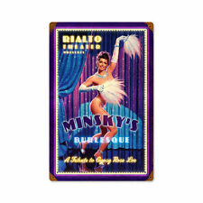 Rialto Theater Minsky`s Burlesque Gypsy Rose Pin Up Sign Blechschild Schild Groß