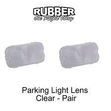 1961 1962 1963 1964 Ford Galaxie Parking Light Lenses - Pair - Clear