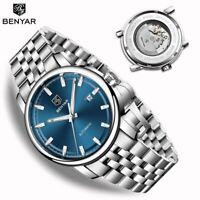 BENYAR Mechanische Uhr Automatische Herren Datum Luxus Uhr Männer Armbanduhr