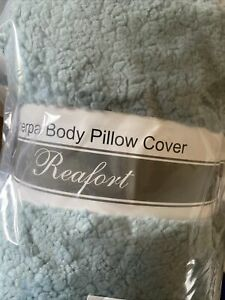 Reafort sherpa body pillow cover- Light Blue