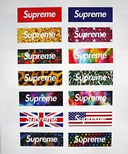 14pcs Vinyl Stickers Supreme Logo Snowboard Luggage Car Laptop Phone AU Shipping