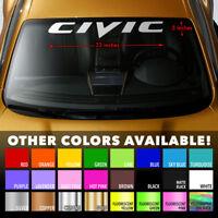 "HONDA CIVIC GEN8 Windshield Banner Long Last Premium Vinyl Decal Sticker 33""x5"""