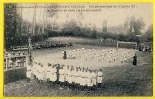 cpa BELGIQUE BEERSEL ALSEMBERG Pensionnat St VICTOR Élèves FÊTE GYMNASTIQUE 1911
