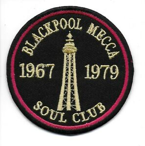 NORTHERN SOUL :  BLACKPOOL MECCA TOWER -  Embroidered Iron Sew On Patch Badge