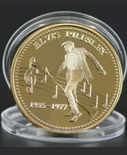 More details for elvis presley gold coin in case new