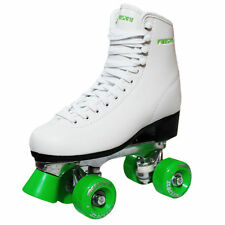 New Freesport Classic Quad roller skates Womens Boot Green Size 6 UK 39eu