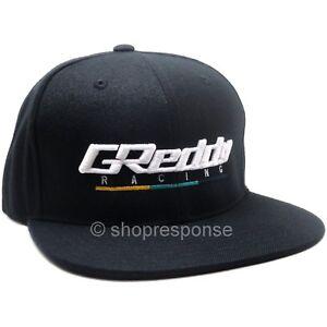 GReddy Racing Team Snap-Back Cap Hat Black w/White 3D Logo Adjustable Genuine