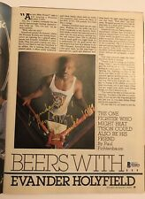 Evander Holyfield Autographed Magazine Page,Very Rare Real Deal Inscription, BAS