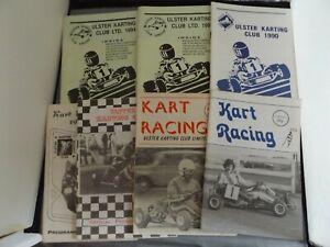 COLLECTION OF 7 x IRISH KART RACING PROGRAMMES - 1970's to 1990's ULSTER KARTING