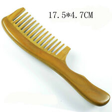Green Sandal Wood Comb Wide Toothed Comb Health Massage HairComb Best Price