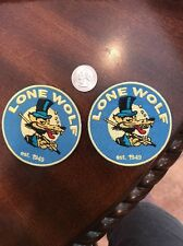 """(2) Lone Wolf Embroidered iron on PATCH -  patch new  3"""" Hot Rod Biker Punk"""
