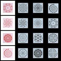 album dekorative bild - vorlage mandala - schichtung schablonen scrapbooking