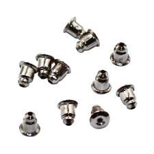 50 Fermoirs Boucle D'Oreilles 6mm x 5mm Couleur Gunblack creation accessoires