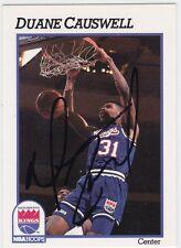 Duane Causwell Autographed 1991 NBA Hoops Basketball Card 182 Sacramento Kings