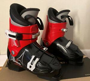 Kids Ski Set: Atomic AJ20 Boots 19.5 (US13) Obermeyer Bib Pants, Columbia Jacket