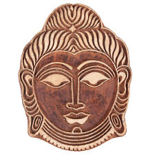 Buddha Head Hand Carved Wooden Printing Block Fabric Stamp (6X4.5)-Inch
