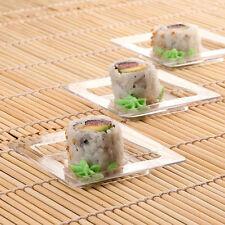 Clear Petite Square Disposable Elegant Mini Tasting Plastic Dessert Dish 24ct.