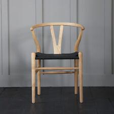 Wishbone Chairs Hans Wegner Reproduction Black / Paper coil seat,