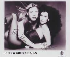 Cher & Gregg Allman (Deceased) Allman Brothers Band RARE PROMO SIGNED RP 8x10!!!