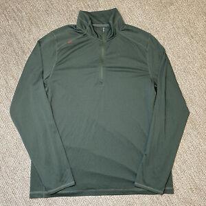 RHONE Men's XL Olive Green 1/4 Quarter Zip Pullover Long Sleeve Activewear Top