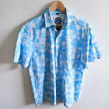 Okanui Classic Men's Hibiscus Print Short Sleeve Shirt | Made in Fiji | Size: S