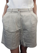 Women RALPH LAUREN Beige 100% Cotton Classic Summer Beach Casual Shorts Size 6