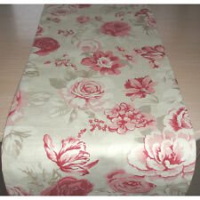 """SMALL 90cm Coffee Table Runner 3ft Rose Pink Cream Beige Roses 36"""" Floral"""