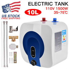 110V 10L Electric Tankless Hot Water Heater Kitchen Bathroom Home 35℃-75℃.