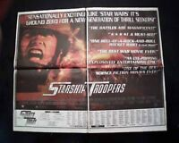 Best STARSHIP TROOPERS Film Movie Opening Day AD & Review 1997 L.A. Newspaper