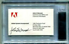 SIGNED BUSINESS CARD JOHN WARNOCK,CO-FOUNDER, ADOBE SYSTEMS, POSTSCRIPT INVENTOR