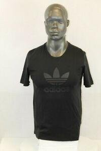 Adidas MEN S/S ORIGINALS TREFOIL SERIES RAISED PRINT T-SHIRT BLACK/RED H13489