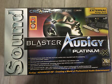 Creative Sound Blaster Audigy Platinum eX In Box. Great Shape.