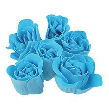 Turquoise Blue Rose design da bagno Sapone Profumato Petalo 6 pz D8Z2