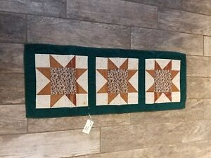 Handmade Quilt Wall Hanging Quilted table runner star