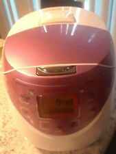 CUCKOO WHITE /PINK ELECTRIC RICE COOKER - 6 CUPS -# CR-0631F- GUC!