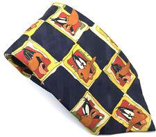 "DAFFY DUCK LOONEY TUNES Men's Tie Blue Novelty Polyester 3.5"" Width 59"" Length"