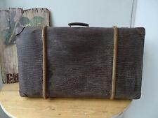 V1821 Alter Reisekoffer um 1930 ~ Vintage ~ Oldtimer Koffer mit Holzleisten
