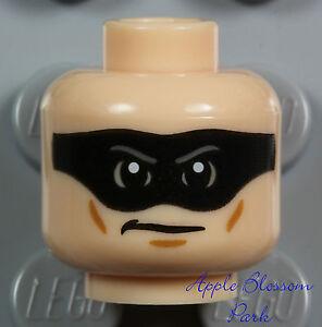 NEW Lego Male LIGHT FLESH MINIFIG HEAD Lone Ranger Zorro w/Black Minifigure Mask
