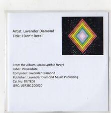 (FQ423) Lavender Diamond, I Don't Recall - DJ CD