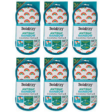 Beldray® COMBO-7051 Anti-Bac Rainbow Cleaning Scrubber Pads, 18 Pack