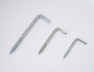 Schraubhaken Hakenschraube L-Haken gebogen Schraube Holz Stahl verzinkt Dübel