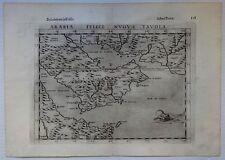 Ptolemy's Geografia map by Ruscelli 1599 Arabia Felice Nuova Tavola 24 x34cm zaz