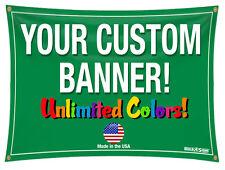 2'x 8' Full Color Custom Banner High Quality Vinyl 2x8
