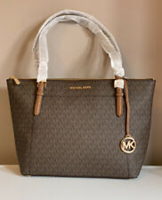 Authentic Michael Kors Large Ciara Tote Leather Brown BNWT