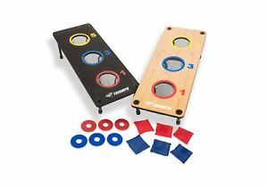 Triumph 2-in-1 Bag Toss/ Washer Toss Combo - Includes 2 Game Platforms, 6 Tos...
