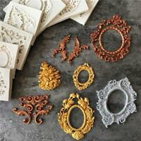 Fondant Cake Mold Border Embossing Silicone Mould Antique Mirror Frame Jian