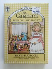 VINTAGE BECKY'S PLAYROOM NEW SEALED THE GINGHAMS PAPER DOLL & PLAY SET USA NIB A