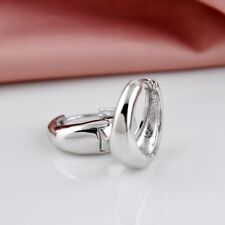 """Awesome New White Gold Filled Smooth & Shiny 20mm 3/4""""  Round Hoop Earrings~"""